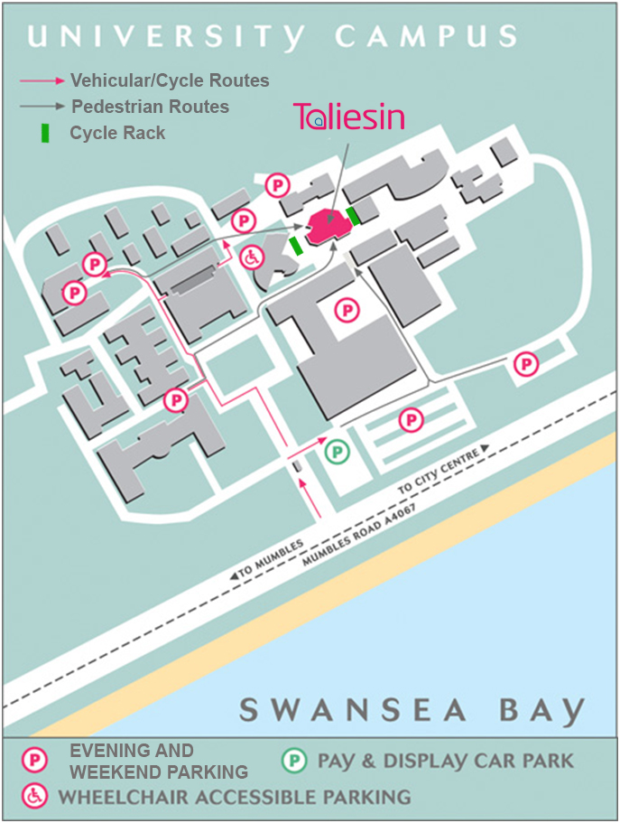 Swansea University Campus Map How to find us